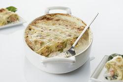 Recette : Cannelloni de ravioles du Dauphiné, saumon fumé...