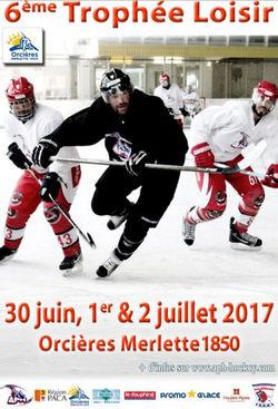 Trophée Hockey Loisir 2017 d'Orcières