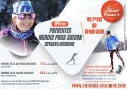 Top départ PREVENTES NORDIC PASS SAISON Autrans-Méaudre