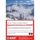 """""""Face au Mont-Blanc"""" : La plus gourmande des sorties raquettes"""