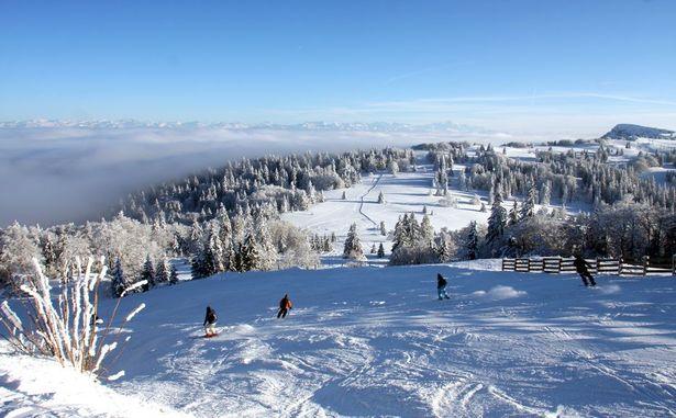 Piste sommet, vue sur le Mont d'Or