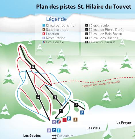 Domaine skiable alpin ski nordique st hilaire du touvet plan des pistes st hilaire du touvet - Office du tourisme saint hilaire du touvet ...