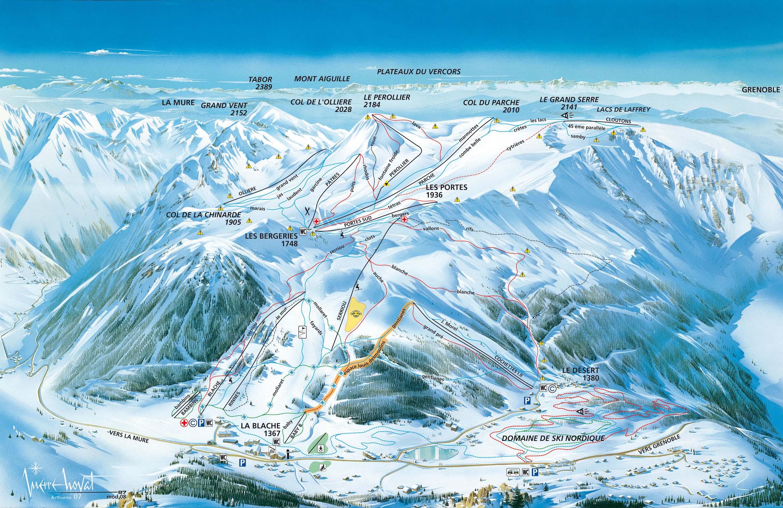 Domaine skiable alpin ski nordique alpe du grand serre plan des pistes alpe du grand serre - Office du tourisme alpe du grand serre ...