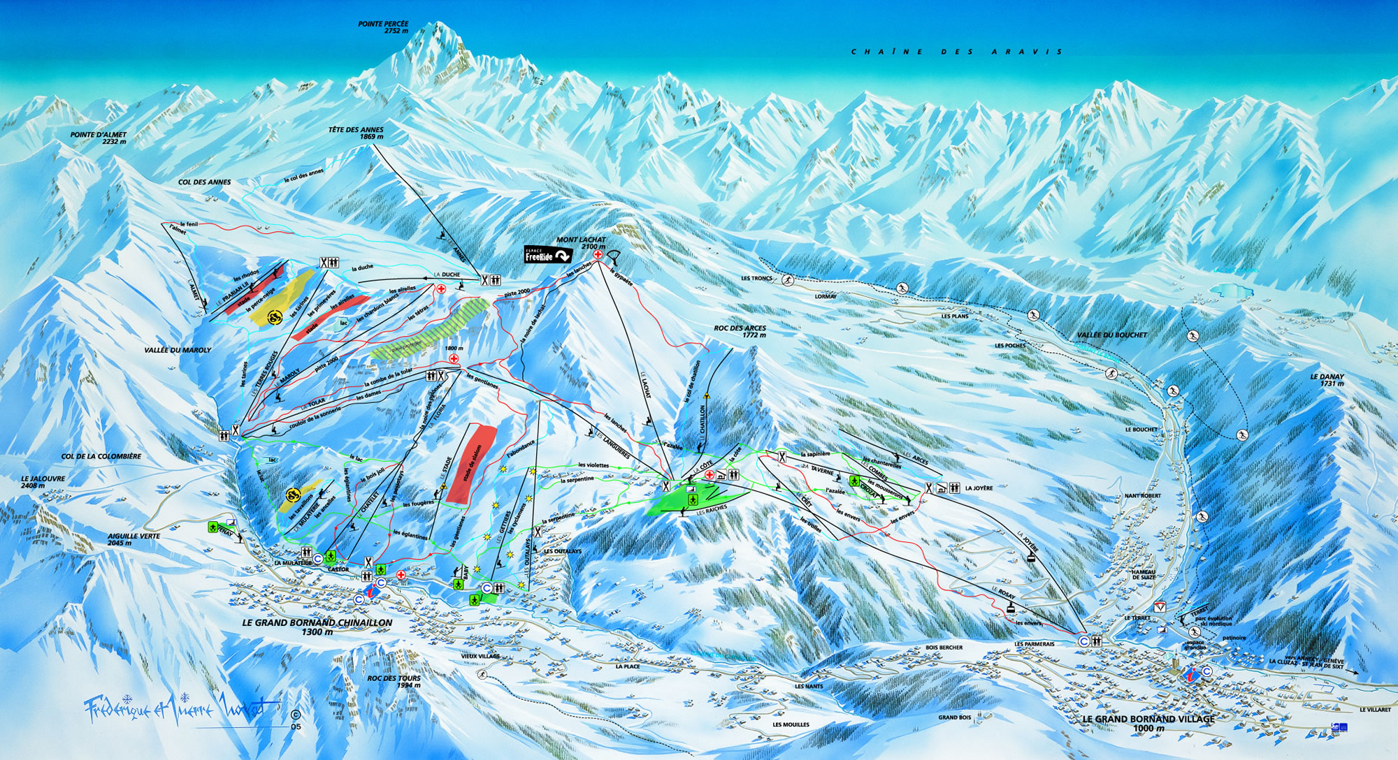 Domaine skiable alpin ski nordique grand bornand le plan des pistes le grand bornand - Office du tourisme grand bornand chinaillon ...