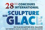 Concours International de sculpture sur glace 2018 à Valloire
