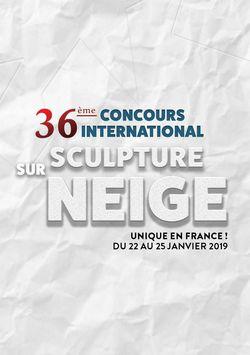 Concours international de sculpture sur neige 2019 à Valloire