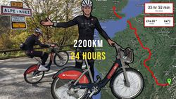 24 heures pour rallier Londres à l'Alpe d'Huez en Vélib