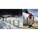 activité de montage Salle de remise en forme : Aire d'échauffement pour ski de fond