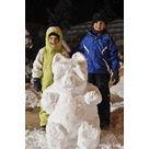 Concours de sculpture de neige