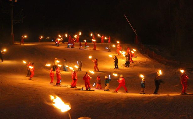Descente aux flambeaux 2 - Copyright OT Valberg