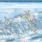 Monts Jura plan des pistes