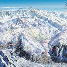 L'Alpe-d'huez plan des pistes