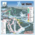 Le Lac Blanc plan des pistes